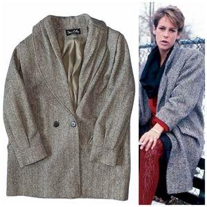 Vintage Dani Colby Women's Size XL Herringbone Pea Coat